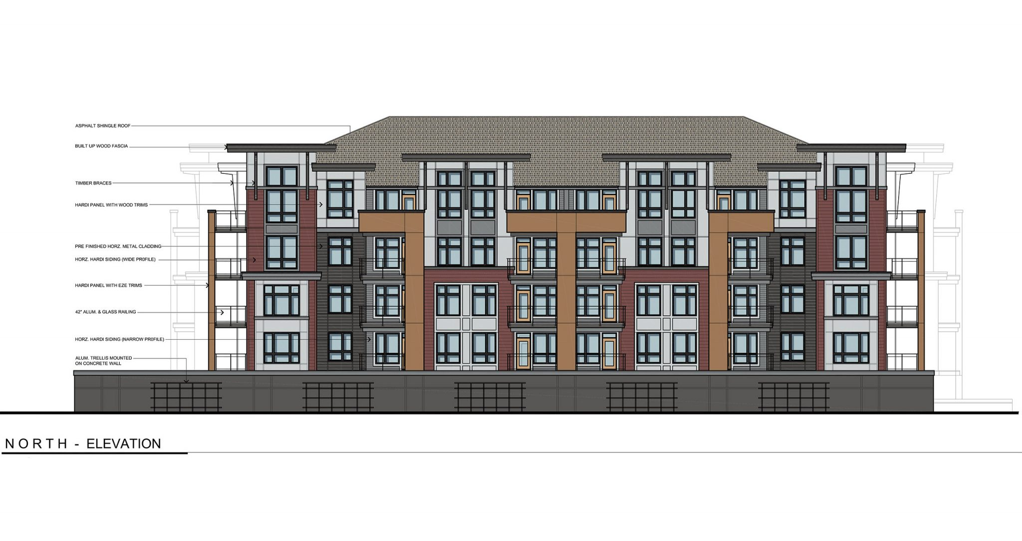 9250 Corbould Street Apartment Front Render